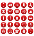 beer icons set vetor red vector image vector image