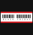 black friday inscription barcode vector image