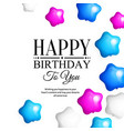 bunch of colorful star shaped balloons vector image vector image