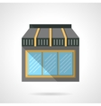 Cafe glass storefront flat design icon vector image vector image