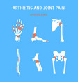 cartoon arthritis and joint pain set vector image vector image