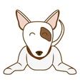 cartoon dog icon vector image