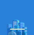 city landscape vertical banner modern vector image
