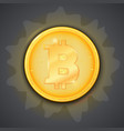 coin of virtual currency bitcoin icon of golden vector image vector image
