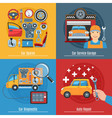 Colorful Flat Car Service Concept Set vector image