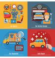 Colorful Flat Car Service Concept Set vector image