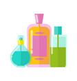 colorful templates three vials vector image vector image
