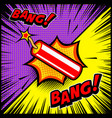comic style dynamite explosion design element vector image vector image