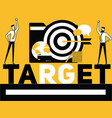 creative word concept target and people doing vector image vector image