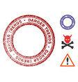 danger trends watermark with grunge surface vector image vector image