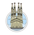 doodle sagrada familia tower in barcelona and vector image