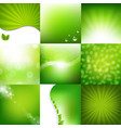 eco green posters set vector image vector image