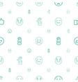 facebook icons pattern seamless white background vector image vector image