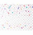 falling confetti confetti isolated vector image vector image