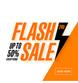 flash sale banner 24 hours only vector image vector image