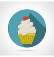 Flat color icon for tasty cupcake vector image vector image