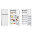 fridge unit realistic collection vector image vector image