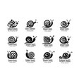 funny snail black silhouette for your design vector image vector image