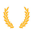 gold laurel wreath - a symbol of the winner wheat vector image vector image
