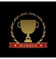 Golden cup Winner vector image