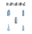 isometric construction set of urban cityscape vector image vector image