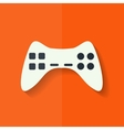 Joystick web icon Flat design vector image