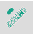 Keyboard icon vector image vector image
