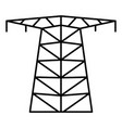 large electric tower icon outline style vector image vector image