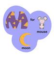 letter m for children alphabet vector image