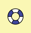 lifebuoy icon thin line color vector image