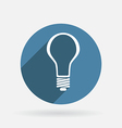 lightbulb Circle blue icon with shadow vector image