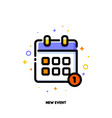 line icon of calendar for new event concept vector image