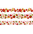 merry christmas seamless border decoration vector image