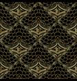 modern abstract gold 3d seamless pattern greek vector image