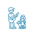 musical performance linear icon concept musical vector image