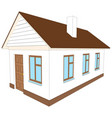 new house with chimney vector image vector image
