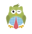 owl with tie vector image vector image