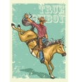 Rodeo Poster with sample text vector image