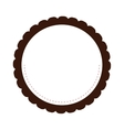 round decorated badge icon vector image vector image