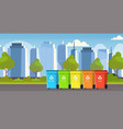rubbish containers different types recycling vector image