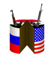 russia the united states and syria the shares vector image vector image