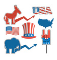Set elections in America Uncle Sam hat American vector image