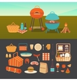 Set of summer picnic vector image vector image