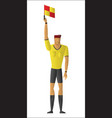 soccer referee signaled a offside vector image vector image