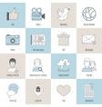 Social icons flat line set vector image vector image