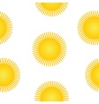 Sun symbol seamless pattern vector image vector image