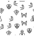 super hero seamless pattern vector image vector image