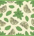 tea pattern 1 vector image