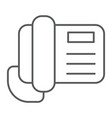 telephone thin line icon call and communication vector image vector image