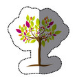 tree with many leaves of colors icon vector image vector image
